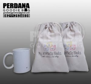 tas blacu sablon model pouch custom perdana