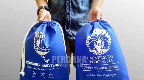 Contoh Tas Non Woven Biru Untuk Klien Di Jatiwaringin