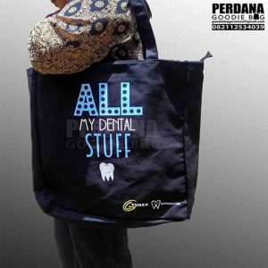 tote bag bahan kanvas suede perdana goodie bag
