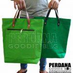 Tote Bag Bahan Kanvas Hijau Polos OJK Jakarta By Perdana