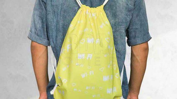 Contoh Drawstring Bag Taslan Printing Di Jagakarsa