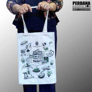 tas sablon kanvas warna putih di Bintaro Q3537