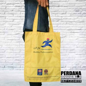 tote bag taslan kuning LPJKN by Perdana Q3867