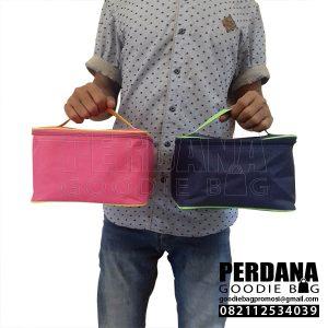 Boxy bag dinier d300 biru dongker & pink polos nanin bekasi Q3967 - GD