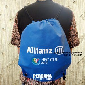 Drawstring bag spunbond biru AFC Cup 2018 Q3795