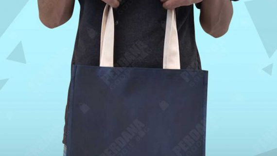 Tas Goodie Bag Microprada Biru Dongker Puri Indah