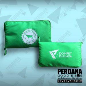 tas lipat dompet taslan hijau dompet dhuafa warung jati id4155