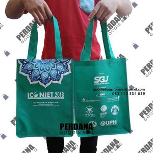 souvenir tas furing hijau sablon SGU by Perdana Goodie Bag id4463