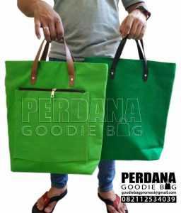 tas kanvas polos model jinjing kombinasi bahan by Perdana