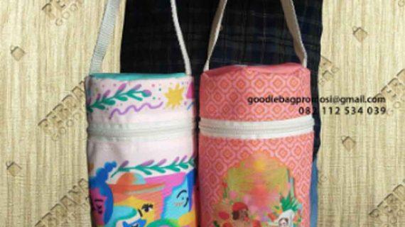 Model Tas Bahan Kanvas Printing Untuk Botol Minum Kirim Ke Jl Lele Bambu Apus Pamulang