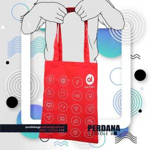 Tas promosi Bahan Dill Warna Merah