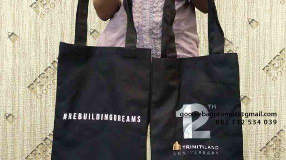 Tas Kanvas Murah Desain Sablon Kirim MH Thamrin Menara Serpong Pinang Tangerang