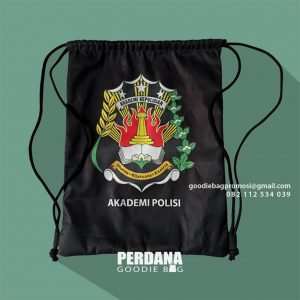 Tas Serut Custom Taslan Printing Akademi Kepolisian Gajahmungkur Semarang ID8505P