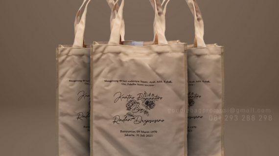 Tote Bag Kanvas Custom Sablon Widya Chandra Senayan Kebayoran Baru